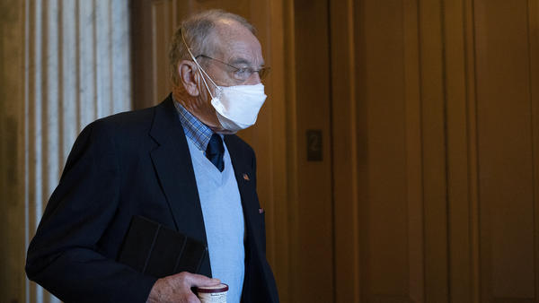 Republican Sen. Chuck Grassley of Iowa, pictured at the Capitol on Friday, acknowledged Monday that the Electoral College confirms Joe Biden as president-elect. Several Republicans had held out on doing so until now.