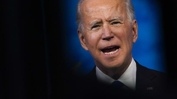 President-elect Joe Biden speaks after the Electoral College formally elected him president Monday.
