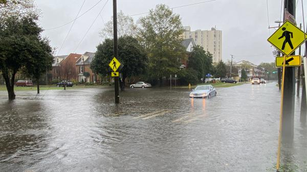 Flooding in Norfolk, Va., during heavy rainfall in November. Some residents worry that rising flood insurance rates will force them out of their homes.