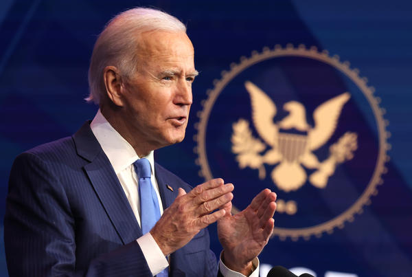President-elect Joe Biden, pictured last week, issued a statement saying his transition team has been briefed on a major cyberattack on U.S. government networks.