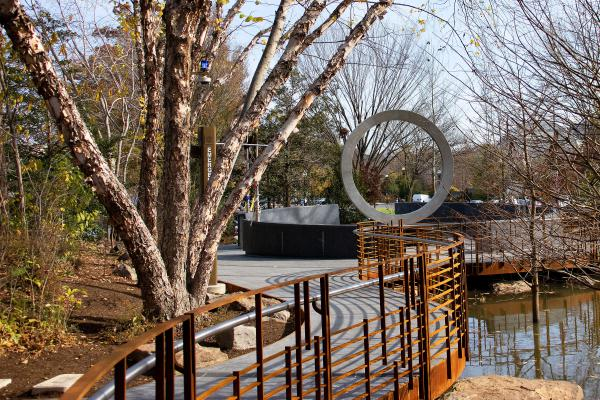 The National Native American Veterans Memorial in Washington, D.C. opened in November. The monument incorporates water for sacred ceremonies, benches, and lances where visitors can tie cloths for prayers and healing.