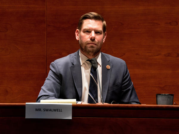Rep. Eric Swalwell, D-Calif., attends a hearing of the House Judiciary Committee on June 24.