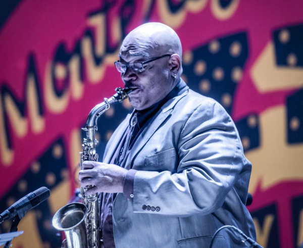 Jeff Clayton performing at the 2017 Monterey Jazz Festival.