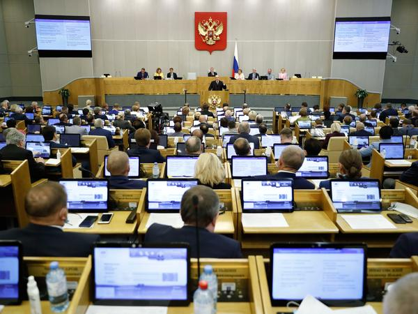 The lower chamber of Russia's parliament approved a number of bills on Wednesday that restrict online content.