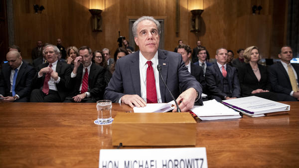 Justice Department Inspector General Michael Horowitz, pictured in December 2019, says the role of federal watchdogs has never been more important.