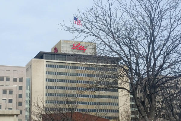 Eli Lilly's headquarters in downtown Indianapolis.