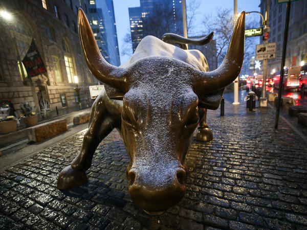 The SPAC, or special purpose acquisition company, has become the hottest trend on Wall Street this year. It allows a company to go public without all the paperwork of a traditional initial public offering. Above, the <em>Charging Bull</em> statue in New York City's Financial District.