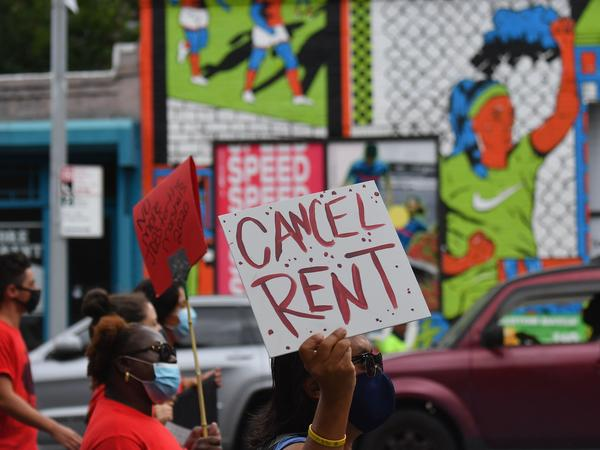 The New York Legislature approved a moratorium on evictions until May 1 as many New Yorkers, who lost their jobs to the pandemic, struggle to pay rent. Protesters urged lawmakers to ban evictions for several months.