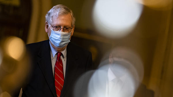 Senate Majority Leader Mitch McConnell, R-Ky., has blocked an attempt to have senators vote on increasing direct coronavirus relief payments.