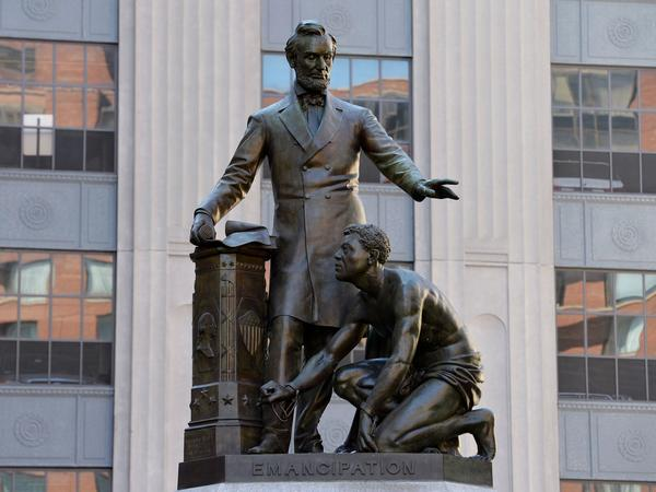 A statue of Abraham Lincoln and a formerly enslaved man has been taken down in Park Square in Boston, Mass., after an intense debate and a petition to remove the work.