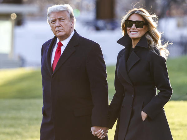 President Trump and first lady Melania Trump at the White House last week. The president was the most admired man in America this year, according to Gallup. The first lady was the third most admired woman in America.