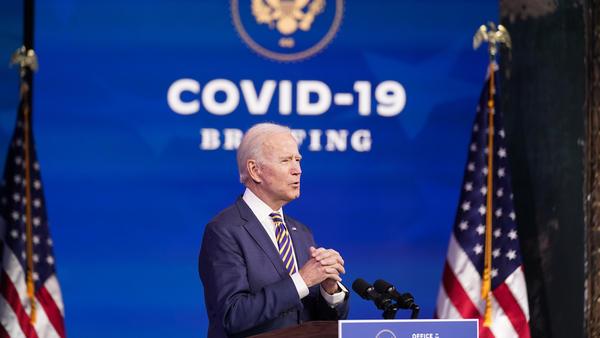 President-elect Joe Biden speaks at The Queen theater Tuesday in Wilmington, Del.