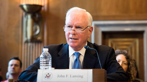 John Lansing, the chief executive officer and director of the U.S. Agency for Global Media, will become NPR's CEO in mid-October.
