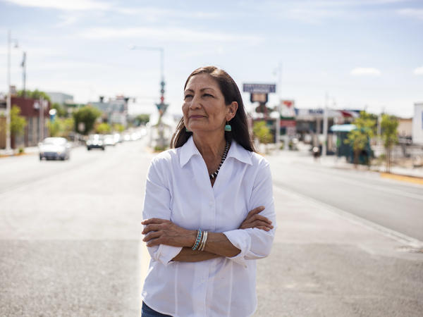 """Rep. Deb Haaland would be the country's first Native American Cabinet secretary. She opposed many Trump environmental rollbacks on public lands and considers climate change """"the challenge of our lifetime."""""""