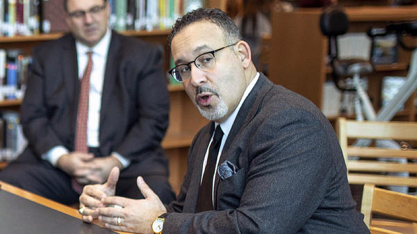 Connecticut Education Commissioner Miguel Cardona, here in January, is President-elect Joe Biden's intended nominee for education secretary.
