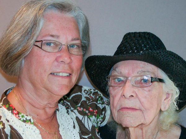 """Marlene Watson and Rosella """"Rose"""" Liscum at their StoryCorps interview in Rensselaer Falls, N.Y., in 2012."""