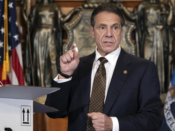 Gov. Andrew Cuomo is urging New Yorkers to get the COVID-19 vaccine when it becomes available to them. He says between 70% and 90% of New Yorkers need to be vaccinated for the vaccine to be effective.