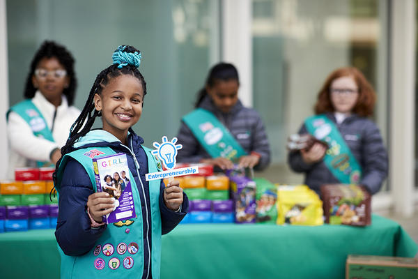 Girl Scout cookie booths will look different in 2021. Expect to see fewer scouts at a time, wearing masks and offering hand sanitizer.