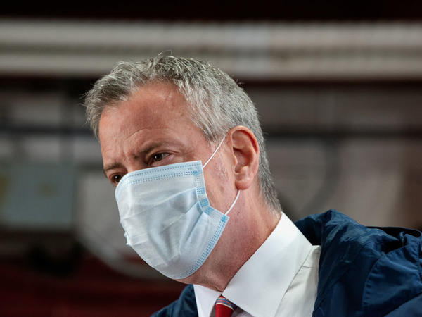 In New York City, homicides were up nearly 40% over the previous year by Dec. 20, 2020. Mayor Bill de Blasio said the numbers should worry New Yorkers.