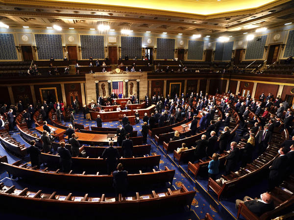 Speaker of the House Nancy Pelosi, D-Calif., and Vice President Mike Pence officiated as a joint session of the House and Senate worked to confirm the Electoral College votes cast in November's election.