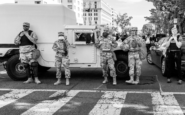 National Guard members at a Black Lives Matter protest in Washington, D.C. in June 2020.
