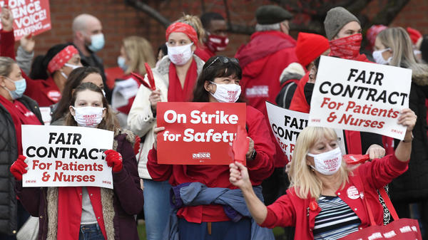 Nurses at Albany Medical Center picketed on Dec.1, asking for more personal protective equipment. They say they're having to reuse N95 masks up to 20 times.