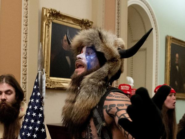 "The Justice Department announced Saturday that it had charged the man known as the ""QAnon shaman,"" Jacob Anthony Chansley, in connection with the Capitol break-in on Wednesday."