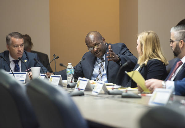 Rep. Bobby DuBose, a Democrat from Fort Lauderdale, participates in a meeting of the House Transportation and Tourism Appropriations Subcommittee in January 2019.