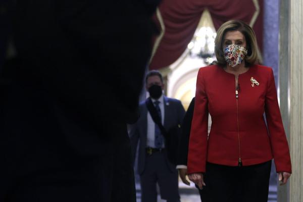 U.S. Speaker Rep. Nancy Pelosi (D-CA) walks in a hallway at the U.S. Capitol in Washington, DC.