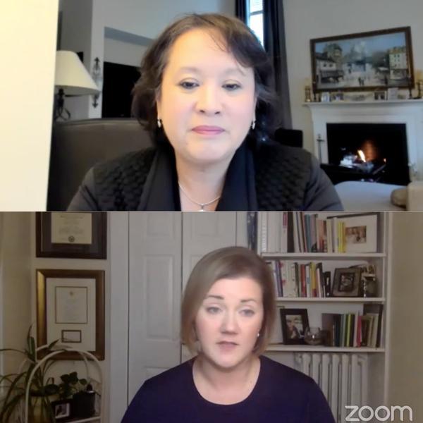 Antoinette Wilson (top) and Liz Walters (bottom)