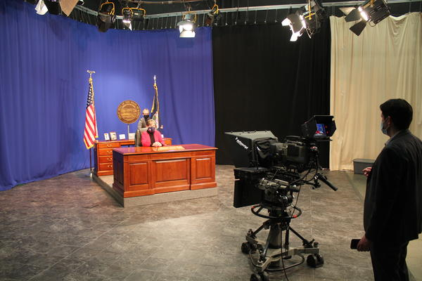 Gov. Laura Kelly ordinarily would give her State of the State speech in the Capitol building directly to legislators. This year she taped it in a Topeka television studio.