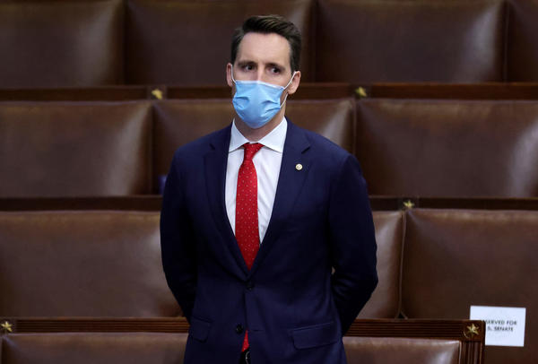 Sen. Josh Hawley, R-Mo., seen here during a reconvening of a joint session of Congress on January 06, has penned an op-ed defending his decision to object to the electoral votes certification.