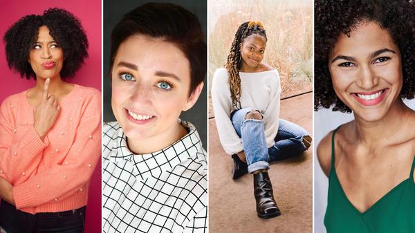 Kaili Turner, Morgan Van Dyne, Alexi Bolden and Gabriela Castillo receive <em>SNL</em>/Second City scholarships.