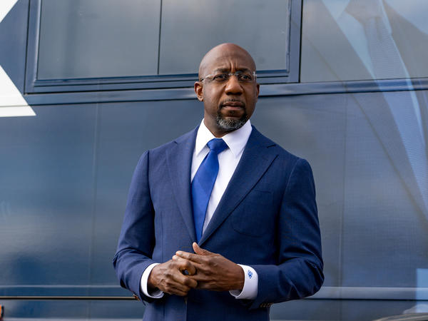 Sen.-elect the Rev. Raphael Warnock, shown campaigning earlier this month, called for equity and inclusivity in a sermon ahead of Martin Luther King Jr. Day, delivered from the late civil rights icon's church.