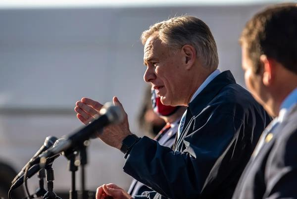 Gov. Greg Abbott during at a COVID-19 related press conference in Austin in December.