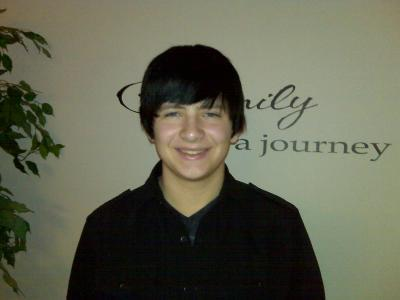 Curtis Galloway as a teenager.