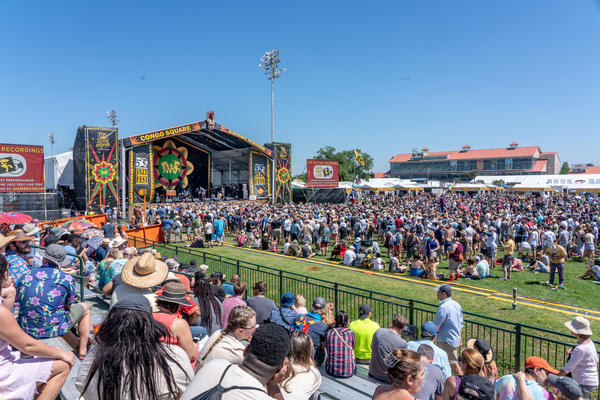 The New Orleans Jazz & Heritage Fest crowd at Congo Square Stage on April 26. 2019.