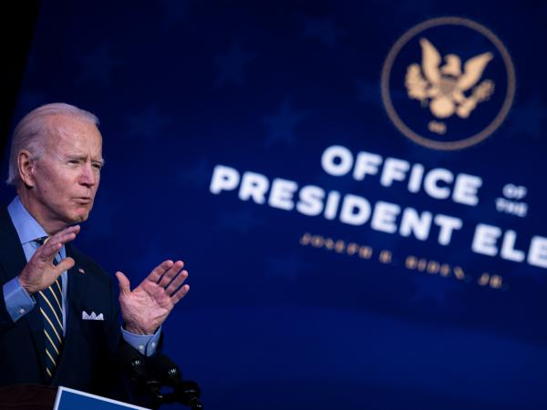 President-elect Joe Biden, seen here speaking about national security last month, plans to make good on an election promise to send Congress an immigration bill on Day 1.