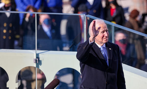 President Biden prepares to deliver his inaugural address Wednesday on the West Front of the U.S. Capitol.