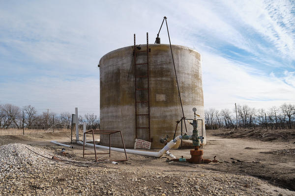 The Matson wastewater disposal well located north of Wichita.