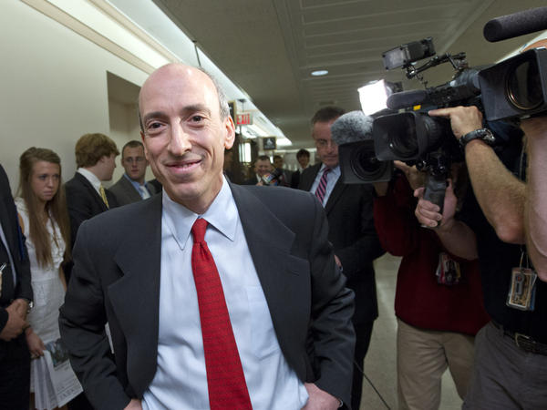 Gary Gensler, President Biden's pick to head the Securities and Exchange Commission, arrives to testify on Capitol Hill back in 2012. Gensler won over many skeptics by pushing through tough reforms after the financial crisis when he ran the Commodity Futures Trading Commission.