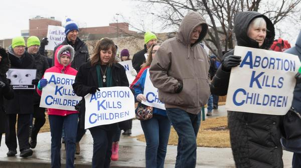 A rally at the Kansas Statehouse last year.