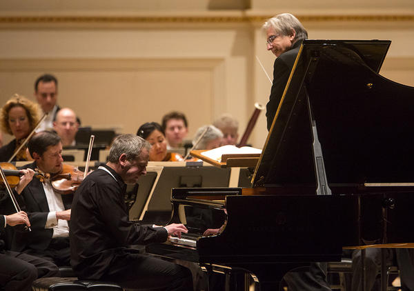 """Jeremy Denk joined the orchestra for Mozart's Piano Concerto No. 25, a piece which the pianist calls """"outrageously beautiful"""" in its shadings of light and dark."""