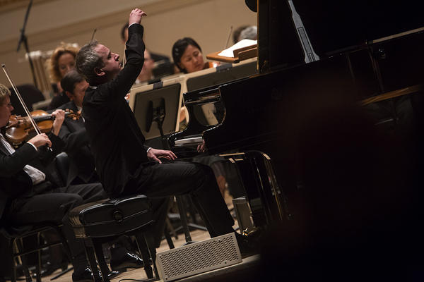 Denk seized upon a very old tradition that stretches back to Mozart's own time, and played along with the orchestra in the concerto's final moments — music that is not part of his written score.
