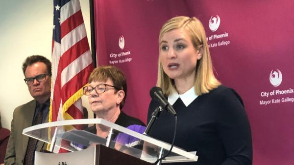 Phoenix Mayor Kate Gallego, pictured March 3 at City Hall in Phoenix, says the city needs more help responding to the coronavirus.