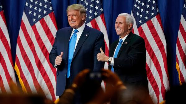 Vice President Mike Pence is seen as a loyal wing man to President Trump at the White House and on the campaign trail. He speaks to the Republican National Convention on Wednesday from Fort McHenry.