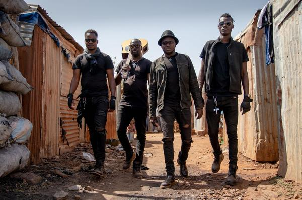 The band Songhoy Blues from Bamako, Mali.