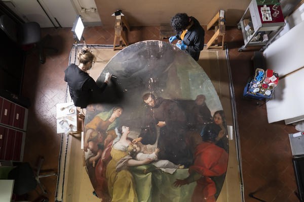 The final restoration project by the nonprofit Advancing Women Artists group features works by Violante Ferroni, an 18th century prodigy about whom little is known today.