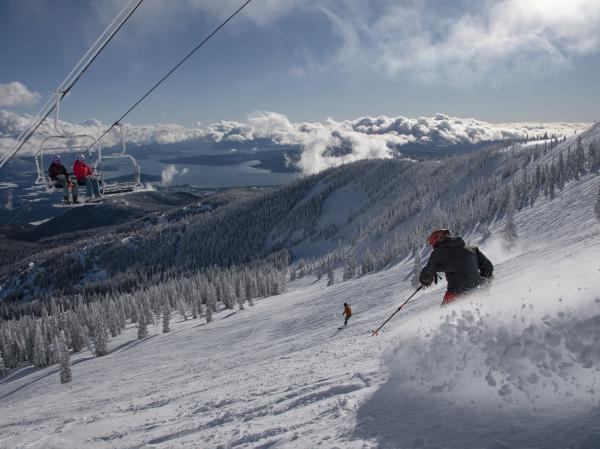 There's plenty of social distance out on the slopes, but resorts are requiring masks in lift lines and lodges and limiting lodge use. Most skiers and boarders are happy to comply but Schweitzer Mountain in Idaho had to suspend season passes for some who refused to wear masks and were verbally abusive to lift line attendants.