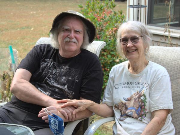 Doug and Judith Saum moved to New Hampshire from Reno, Nev., to escape the health effects of worsening wildfire smoke<em>.</em>